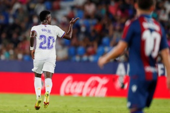 Vinicius ha comenzado la temporada con mucha puntería. EFE