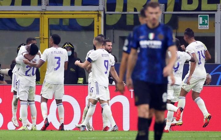 Crónica del Inter-Real Madrid de Champions League. AFP