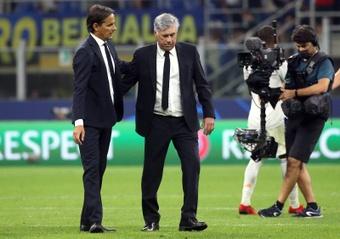 Ancelotti destacó a Courtois, Rodrygo y la capacidad de sufrir. EFE