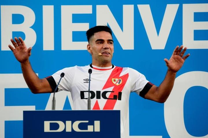 Falcao, presentado como jugador del Rayo. EFE
