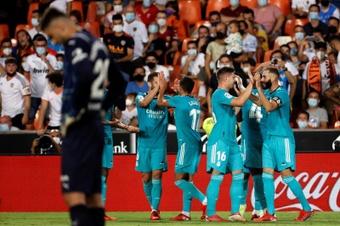 El calendario aprieta al Real Madrid. EFE
