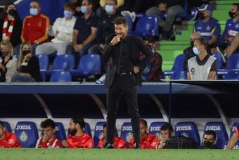 Simeone analizó el triunfo en Getafe. EFE