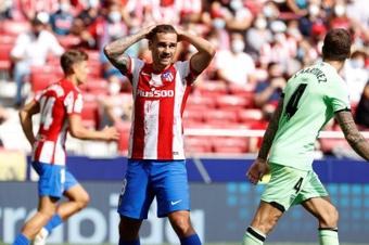 Griezmann sigue sin mostrar su mejor nivel en el Atlético. EFE