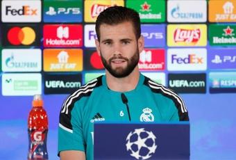 Nacho répond aux questions sur le statut de favori du Real Madrid. EFE
