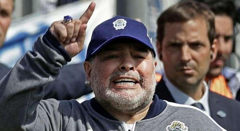 CA Estudiantes recibió el apoyo... ¡de Maradona! AFP