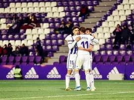 Toni Villa hizo el único gol del partido para el Valladolid. Twitter/realvalladolid