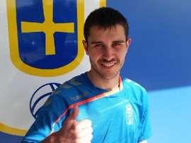 Ahijado continuará en el Real Oviedo hasta junio de 2018. Twitter