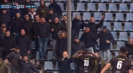 Mendes Moreira of Excelsior suffered racist abuse in a second tier Dutch game. Captura/FOXSports