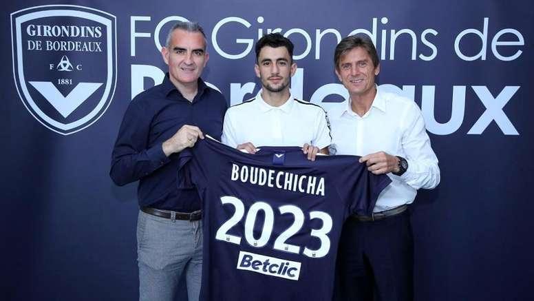 El Girondins consiguió que firmara un contrato hasta 2023. Twitter/girondins