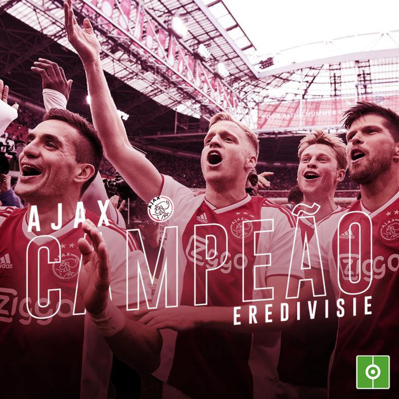 Ajax é campeão holandês da temporada 2018-19. BeSoccer