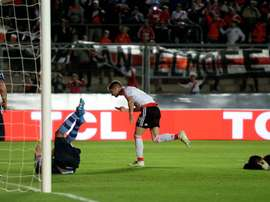 Alario scoring a goal for his side. Goalserve