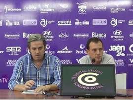Alberto González destacó la entrega de los suyos ante el Alavés. RealJaen