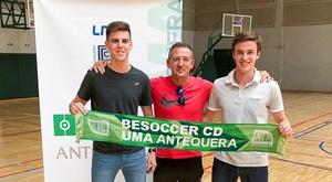 El equipo presentó a Alberto Morillo y Juan Carlos Torres. BeSoccer CD UMA Antequera