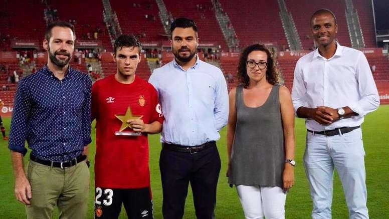 Aleix Febas solo piensa en triunfar con el Mallorca. RCDMallorca