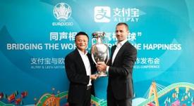 El acuerdo UEFA-'Alipay' continúa. UEFA