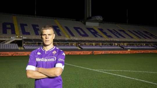 Kokorin has joined Fiorentina. Twitter/ACFFiorentina
