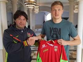 El conjunto ruso hizo oficial el fichaje del central de 23 años. UfaFC