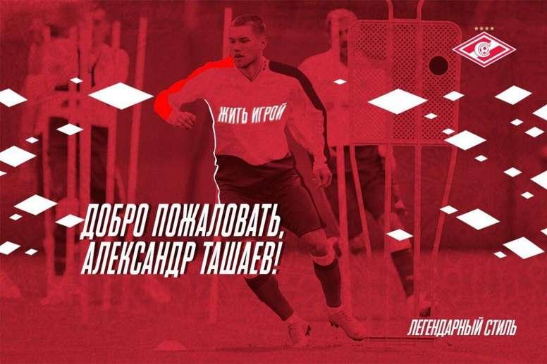 Tashaev is now a Spartak player. FCSM_Official