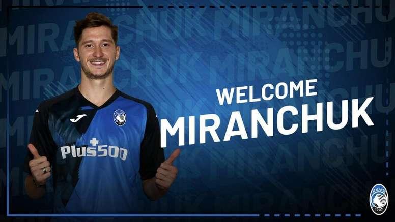 Aleksey Miranchuk ya es del Atalanta. Twitter/Atalanta_BC