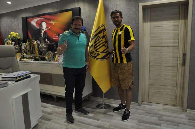 Cerci podría denunciar al Ankaragucu. Twitter/Ankaragucu