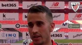 Berenguer analizó la victoria ante el Levante. Captura/AthleticClub