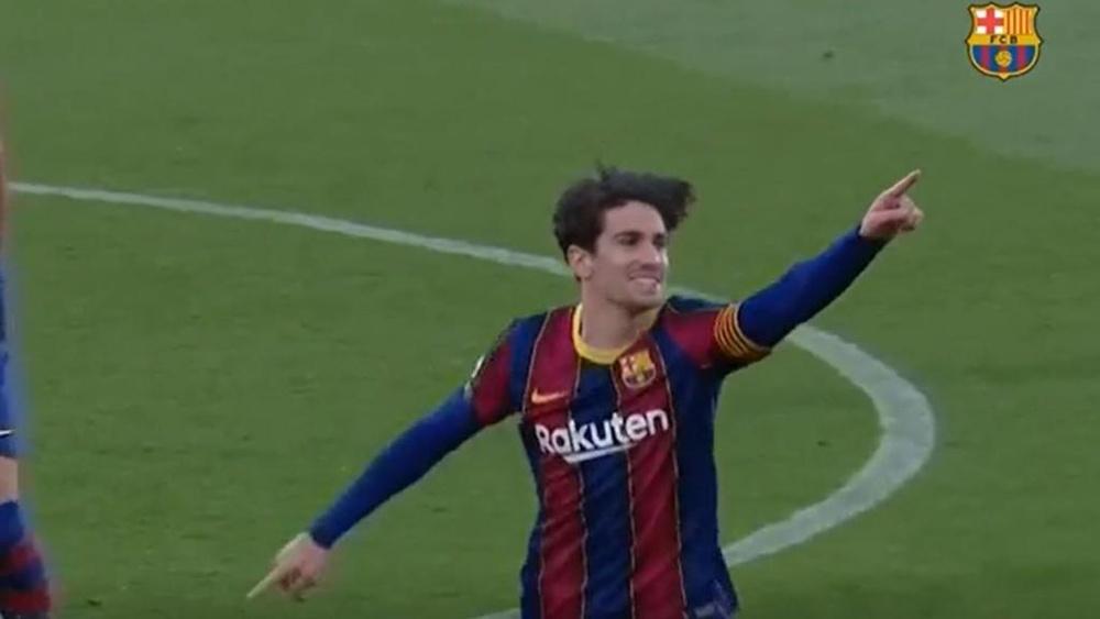 Ramón Planes subrayó que ya trabajan para que Collado pueda jugar cuanto antes. Captura/FCBarcelona