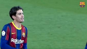 El Barça deja a Collado sin dorsal en la primera plantilla y en el filial. Captura/BarçaTV