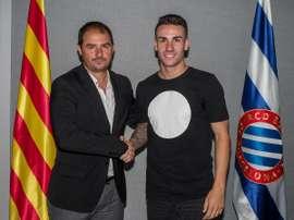 El conjunto catalán hace oficial la renovación del jugador del filial Álex López. RCD Espanyol-CEDJ