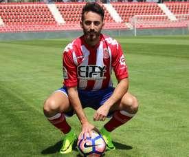 Álex Menéndez sueña con una mejor temporada. GironaFC