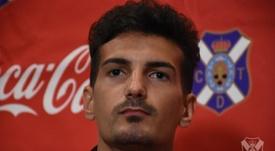 Álex Muñoz habló de las carencias que aún evidencia el Tenerife. CDTOficial