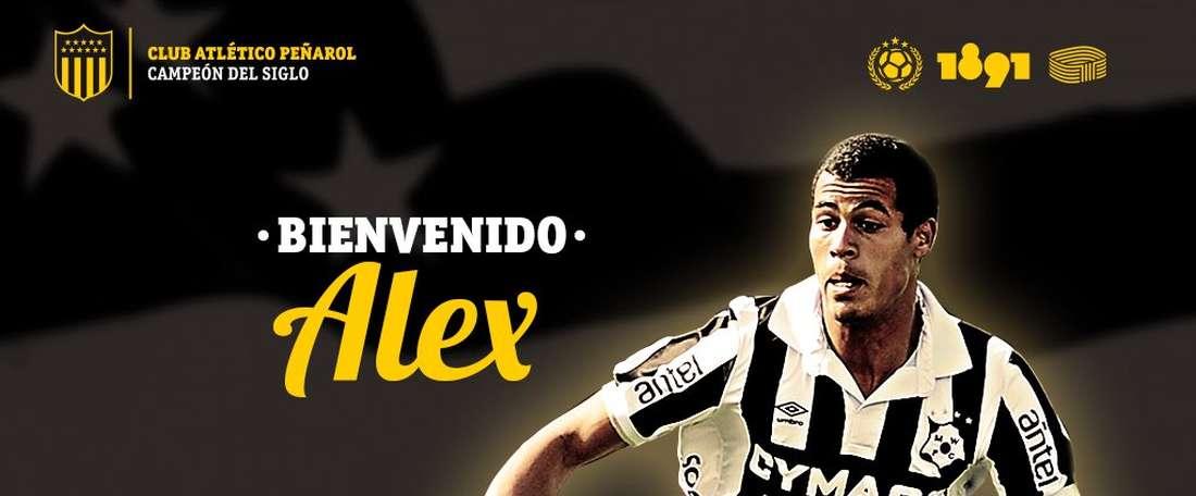 Alex Silva será presentado como nuevo jugador 'aurinegro'. Peñarol