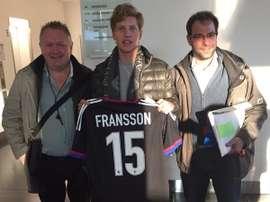Alexander Fransson, nuevo jugador del Basilea. Twitter