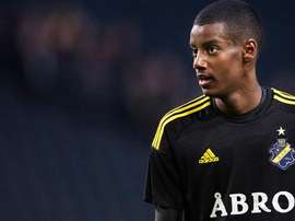 Alexander Isak during a game with his current team. AIKFotboll