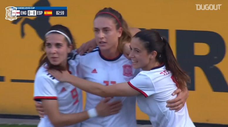 España se llevó la victoria gracias a este gol. DUGOUT