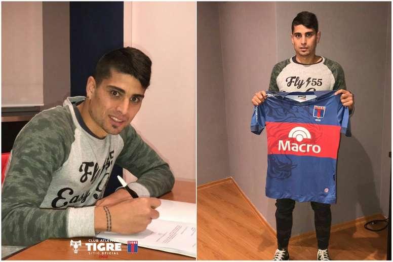 Niz reforzará la zaga de Tigre durante la próxima temporada. ClubAtleticoTigre