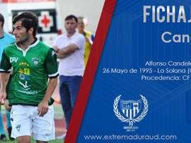 Candelas firma con el Extremadura. EXTUD