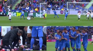 It was a very controversial first half in Getafe. Captura/GOL