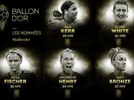 Les 20 joueuses nommés au Ballon d'Or féminin 2019. FranceFootball