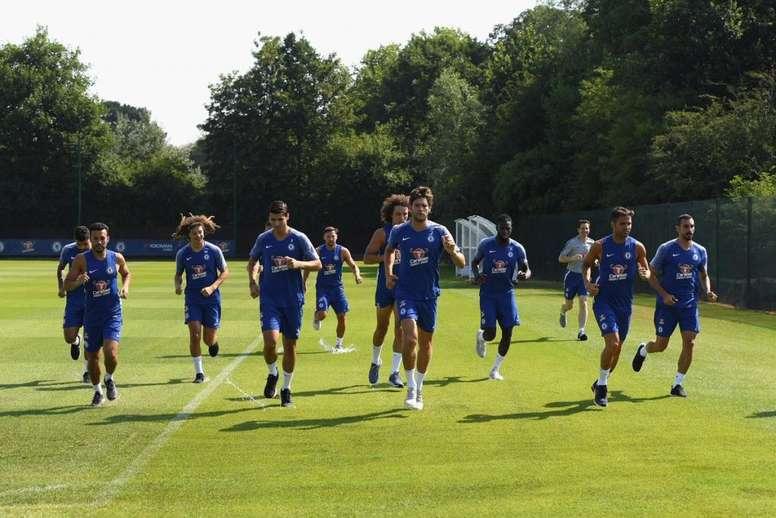 Chelsea returned to training. ChelseaFC