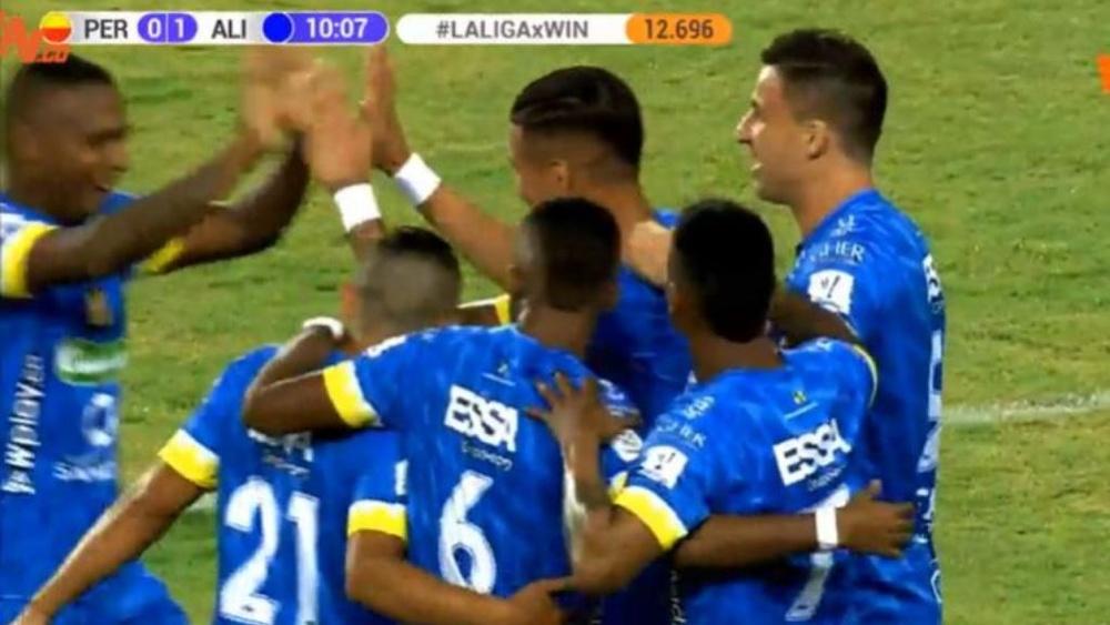 Alianza Petrolera se impuso por 0-2 ante Deportivo Pereira. Captura/WinSports
