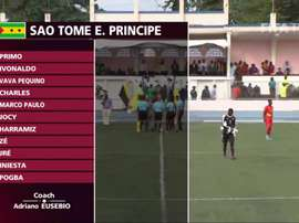 'Iniesta' and 'Pogba' play for Sao Tome and Principe. Captura/FIFATV