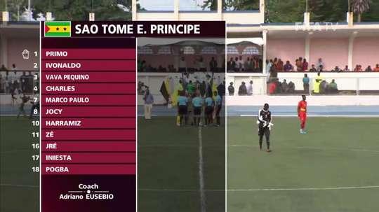 'Iniesta' and 'Pogba' play for Sao Tome and Principe. Captura/FIFATV