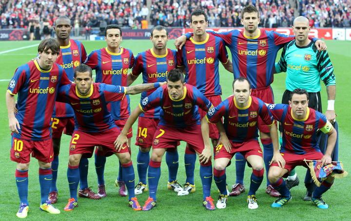 El Barcelona machacó al Manchester United en Wembley en 2011. EFE
