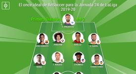 El once ideal de BeSoccer para la Jornada 24 de LaLiga 2019-20. BeSoccer