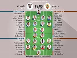 Alineaciones confirmadas para el Albacete-Almería. BeSoccer