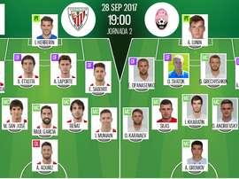 Alineaciones confirmadas del Athletic-Zorya de la segunda jornada de Europa League. BeSoccer