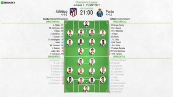 El Atlético-Oporto, en directo. BeSoccer