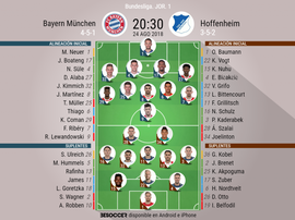 Alineaciones confirmadas del Bayern-Hoffenheim de la Jornada 1. BeSoccer