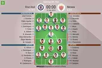 La final de la Supercopa de México, en directo. CruzAzul