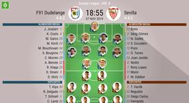Onces confirmados del Dudelange-Sevilla. BeSoccer